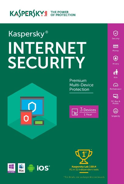 Kaspersky Internet Security 2016 (3 USERS)