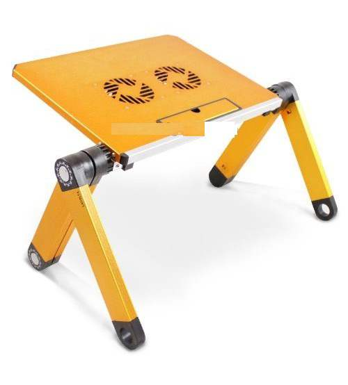 Folding Laptop Table Desk Stand With Cooling Pad