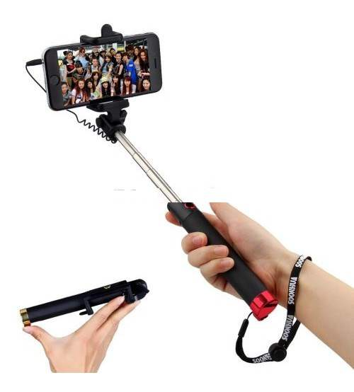 Locust Wired Pocket Selfie Monopod Stick