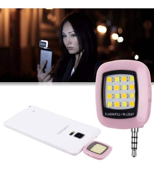 Portable Mini 16 LED Selfie Flash Light