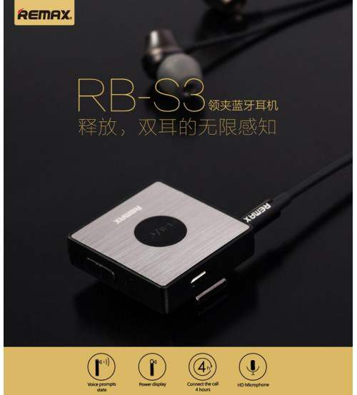 Remax Original RB-S3 Sports Clip-On Bluetooth Headset