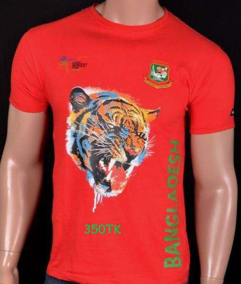 Bangladeshi supporters Red jersey tiger
