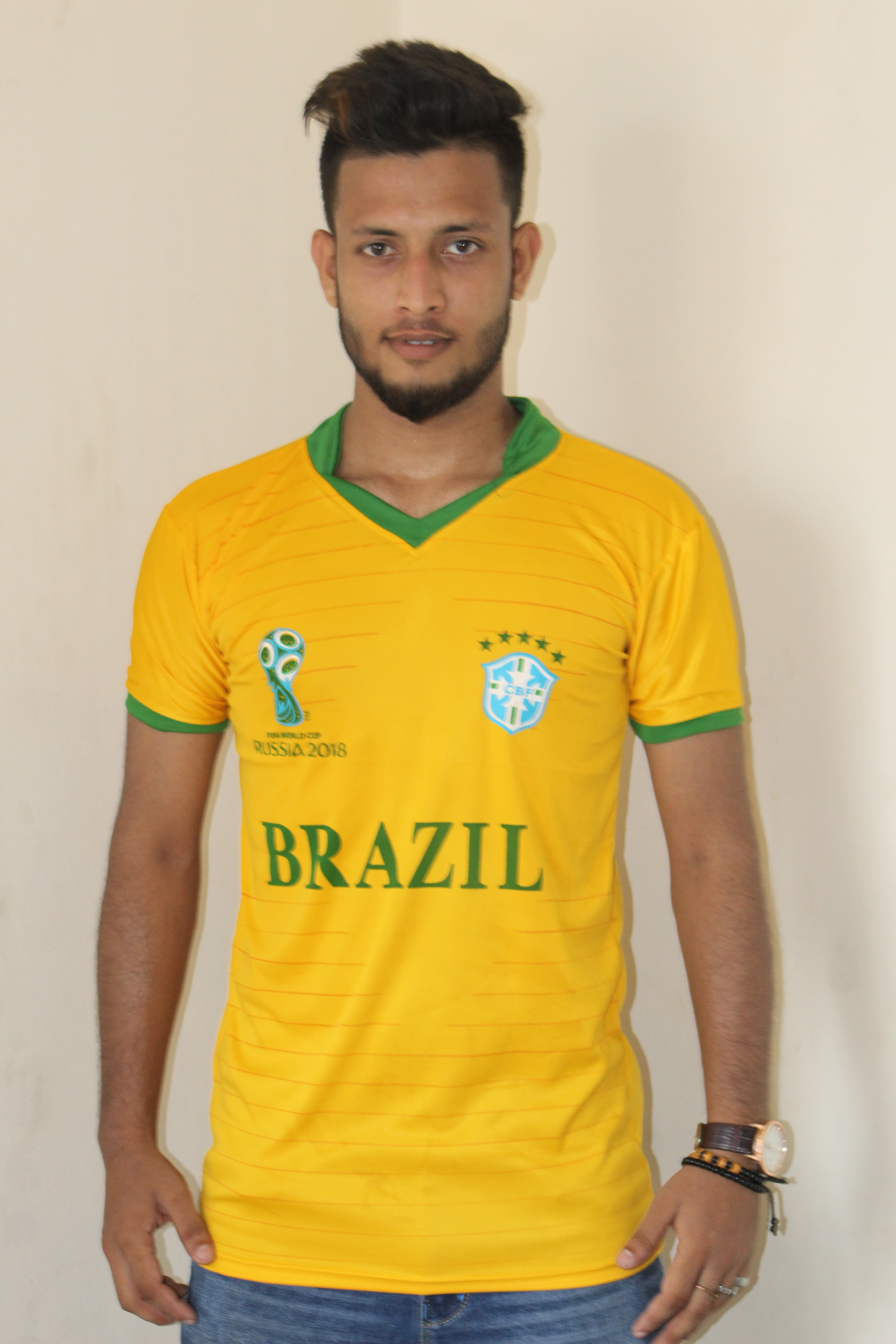 5a0709ec6 world cup 2018 brazil half sleeve jersey (1) copy