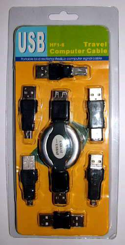 USB Travel Computer Cable HV-36