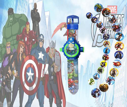 AVENGERS ASSEMBLE PROJECTOR WATCH