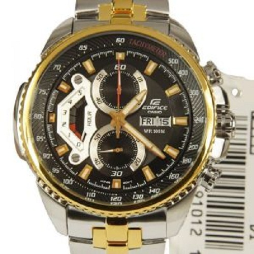 Casio 558sg 7avdf Black&gold Dial Chronograph Watch