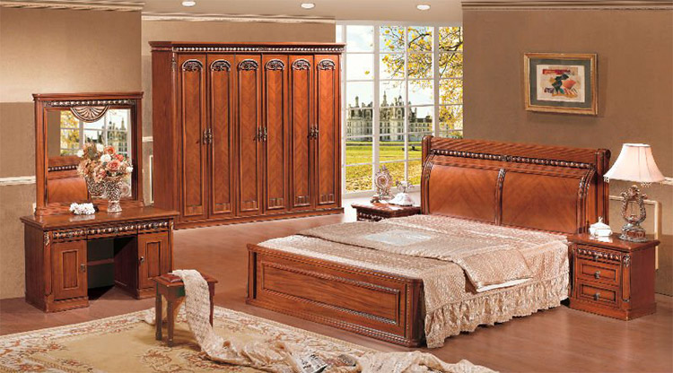 Luxuries standard bed bedroom furniture for Bedroom decoration in bangladesh