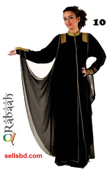 Fashionable muslim dress islamic clothing Rabaah Abaya Burka borka 10