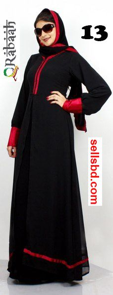 Fashionable muslim dress islamic clothing Rabaah Abaya Burka borka 13
