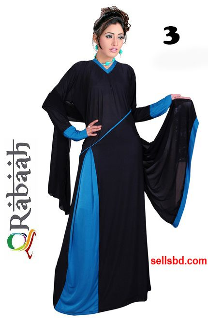 Fashionable muslim dress islamic clothing Rabaah Abaya Burka borka 03