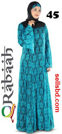 Fashionable muslim dress islamic clothing Rabaah Abaya Burka borka 45