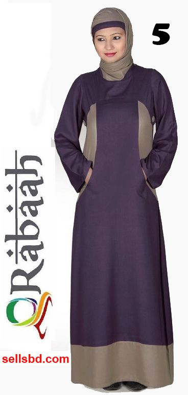 Fashionable muslim dress islamic clothing Rabaah Abaya Burka borka 05