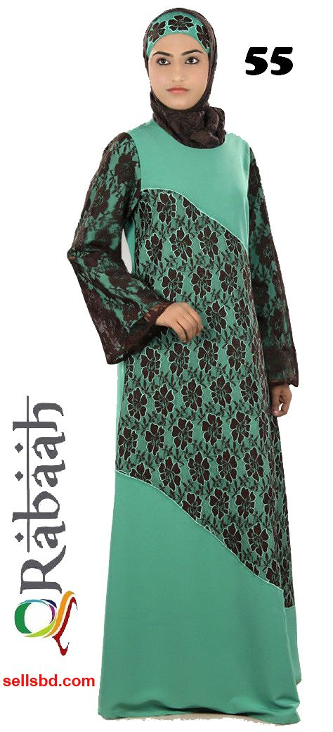 Fashionable muslim dress islamic clothing Rabaah Abaya Burka borka 55