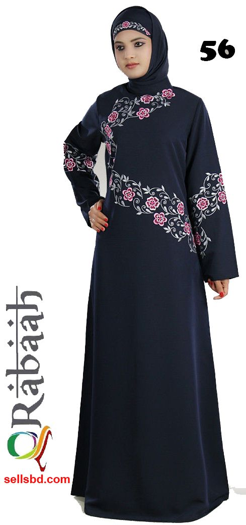 Fashionable muslim dress islamic clothing Rabaah Abaya Burka borka 56