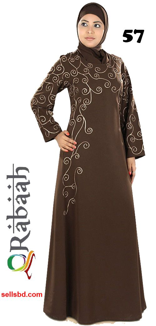 Fashionable muslim dress islamic clothing Rabaah Abaya Burka borka 57