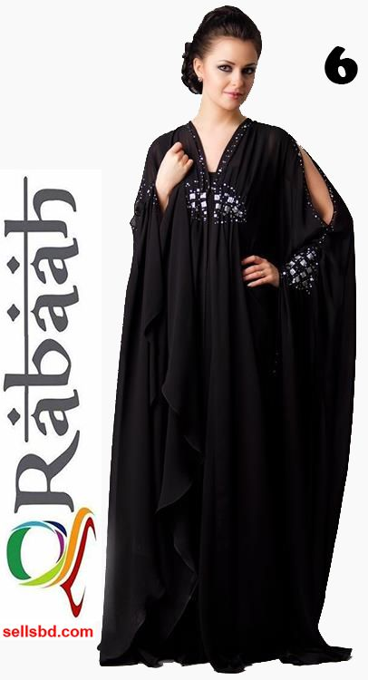 Fashionable muslim dress islamic clothing Rabaah Abaya Burka borka 06