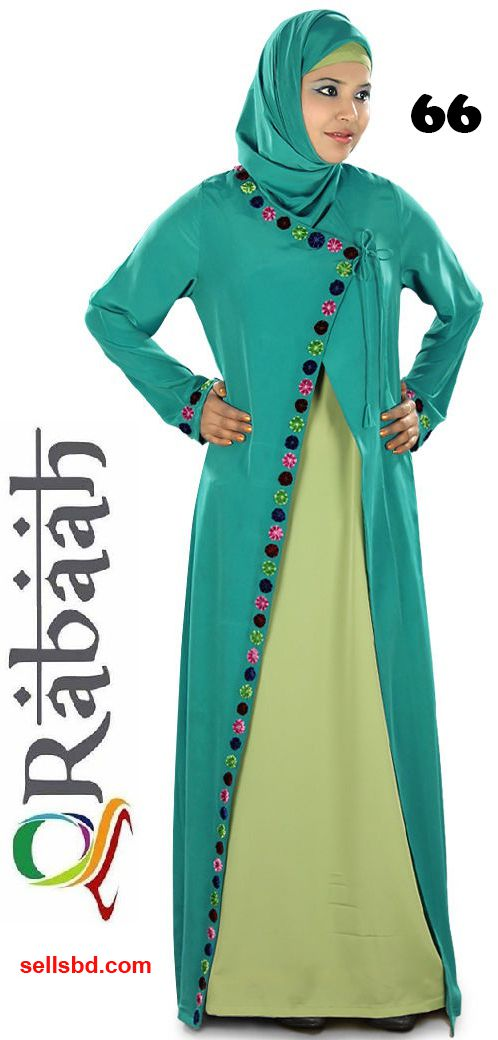 Fashionable muslim dress islamic clothing Rabaah Abaya Burka borka 66
