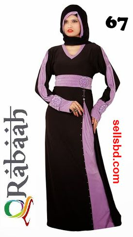 Fashionable muslim dress islamic clothing Rabaah Abaya Burka borka 67
