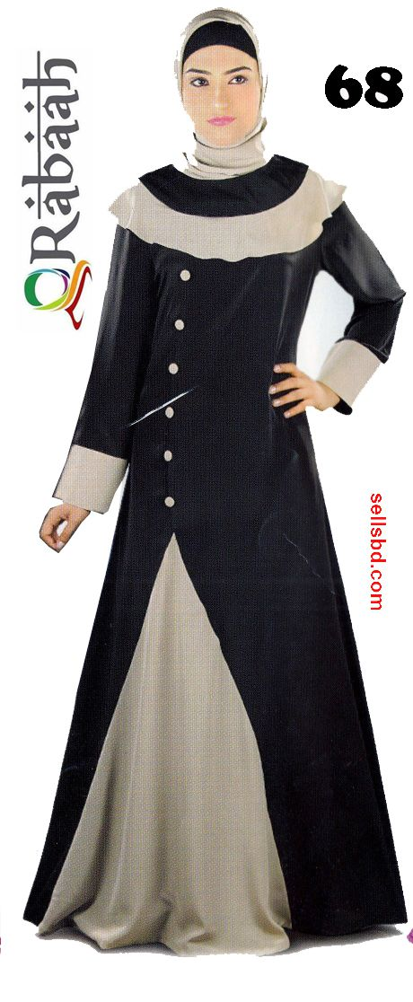 Fashionable muslim dress islamic clothing Rabaah Abaya Burka borka 68