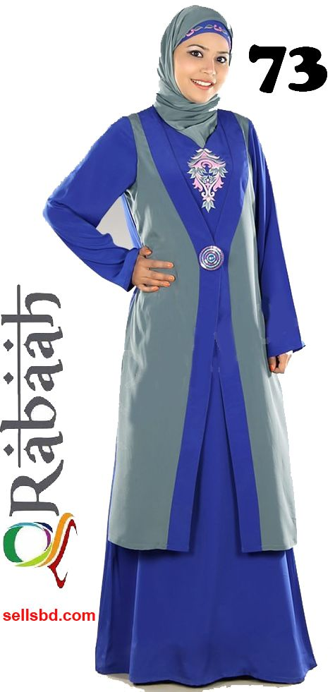 Fashionable muslim dress islamic clothing Rabaah Abaya Burka borka 73