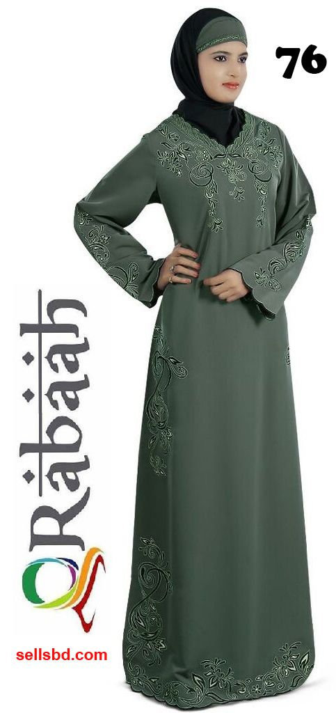 Fashionable muslim dress islamic clothing Rabaah Abaya Burka borka 76