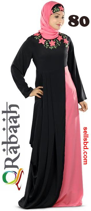 Fashionable muslim dress islamic clothing Rabaah Abaya Burka borka 80
