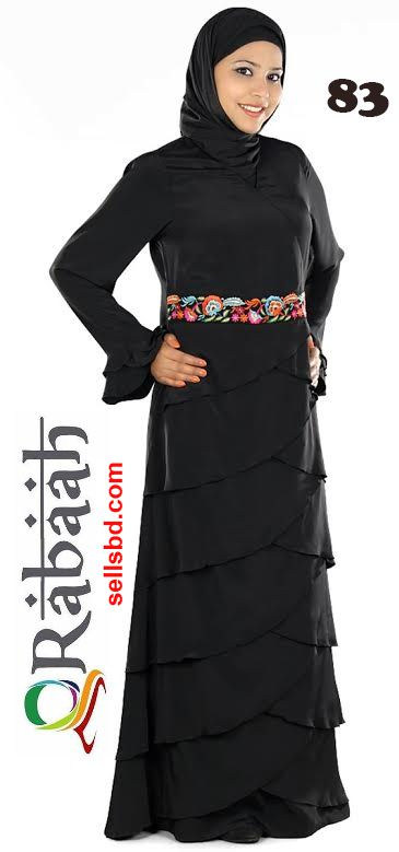 Fashionable muslim dress islamic clothing Rabaah Abaya Burka borka 83