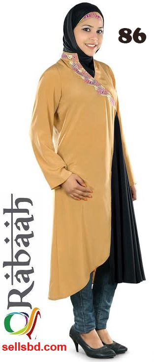 Fashionable muslim dress islamic clothing Rabaah Abaya Burka borka 86