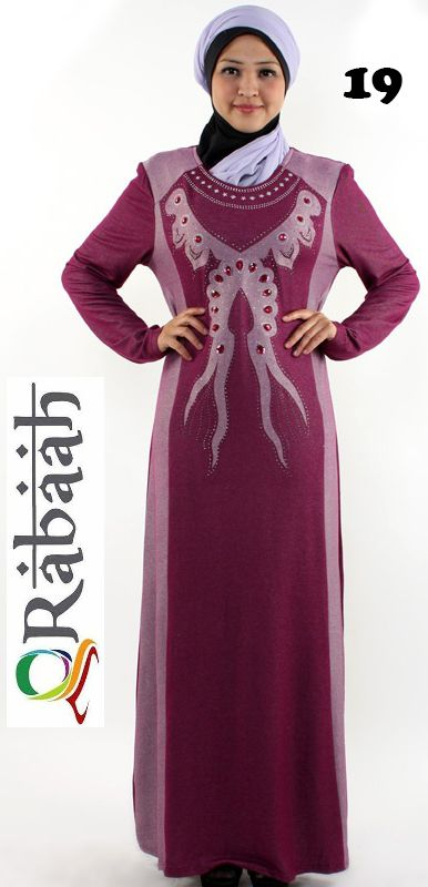 Fashionable muslim dress islamic clothing Rabaah Abaya Burka borka 19