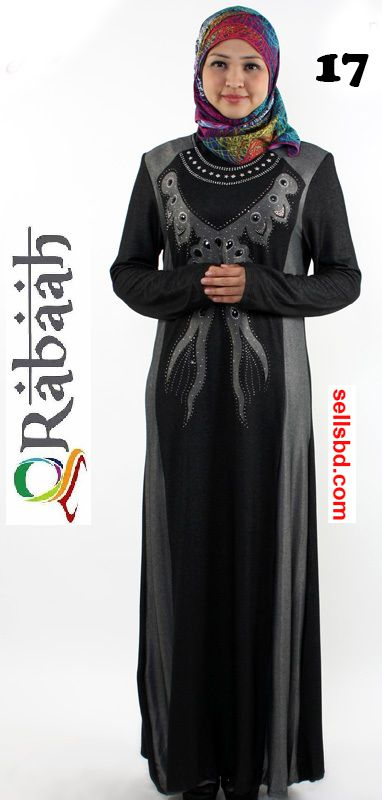 Fashionable muslim dress islamic clothing Rabaah Abaya Burka borka 17