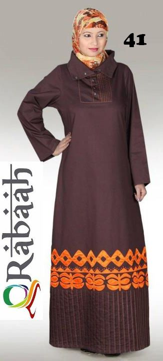 Fashionable muslim dress islamic clothing Rabaah Abaya Burka borka 41