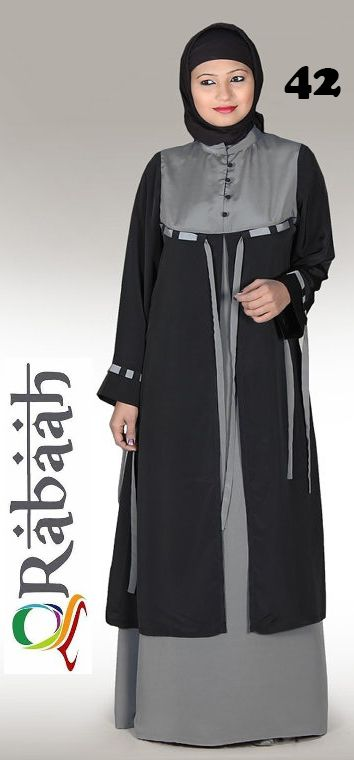 Fashionable muslim dress islamic clothing Rabaah Abaya Burka borka 42