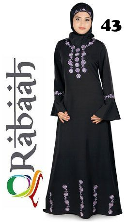 Fashionable muslim dress islamic clothing Rabaah Abaya Burka borka 43