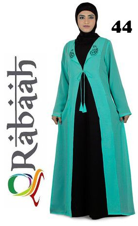 Fashionable muslim dress islamic clothing Rabaah Abaya Burka borka 44