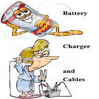 Battery, Chargers, Cables
