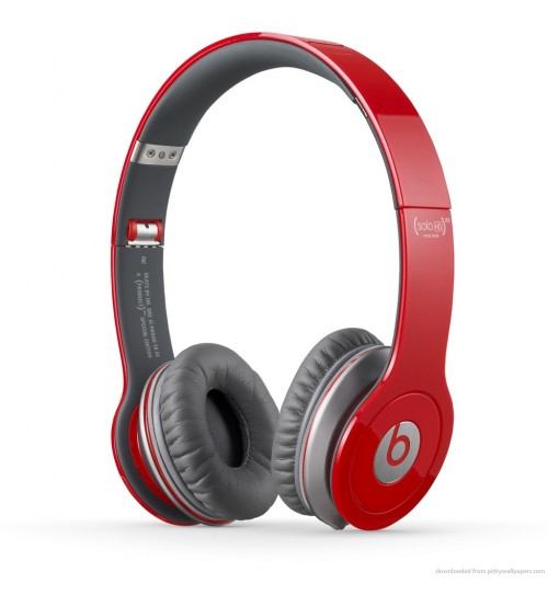 Beats Solo HD Wired Headphone - Red