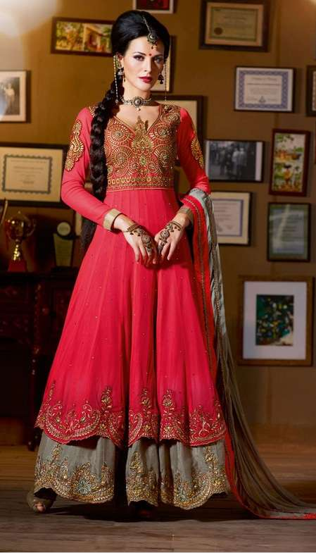 Designer Pink Colour Net Salwar Kameez party dress