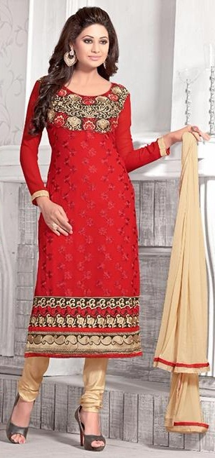 Embroidered salwar kameez S-372