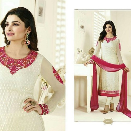 Soft Georgette with embroidery P3123 Replica