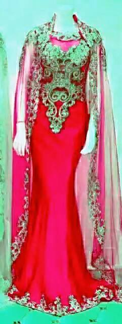 elegant dress red