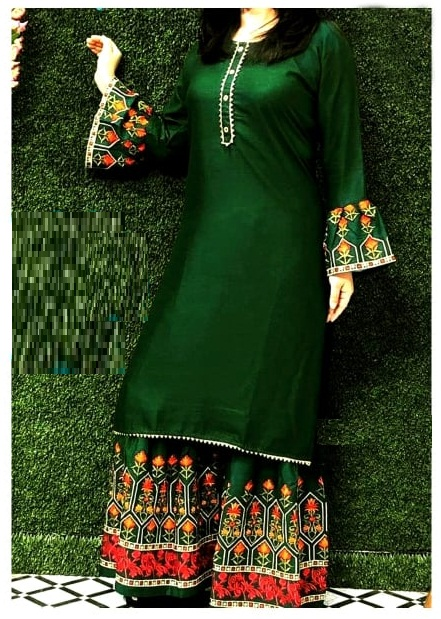 New Style Georgette Three Piece For Women-Free Size
