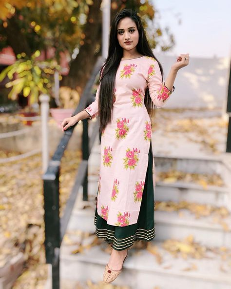Latest Off White And Green block Printed 2 pieces Salwar Kameez for Women-free size
