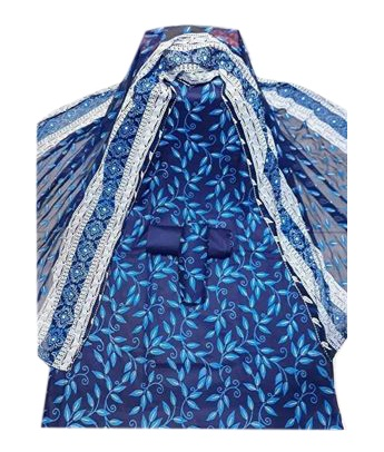 Latest Blue Skin Printed Salwar Kameez for Women-free size