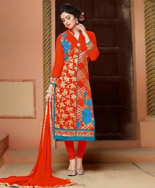 Unstitched block printed cotton replica salwar kameez seblock-303