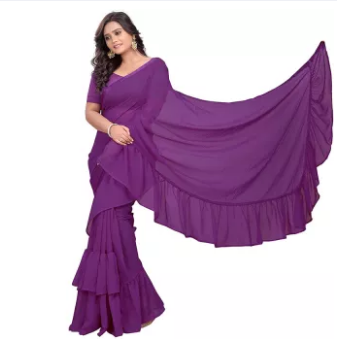 Latest Stylish Weight Less Georgette saree For Women