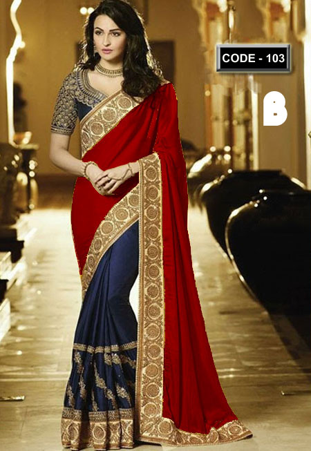 Weight Less Georgette saree Hp-103_B
