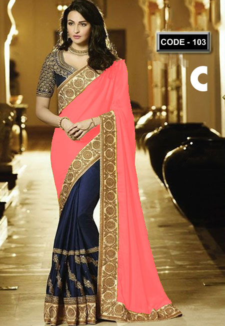 Weight Less Georgette saree Hp-103_C