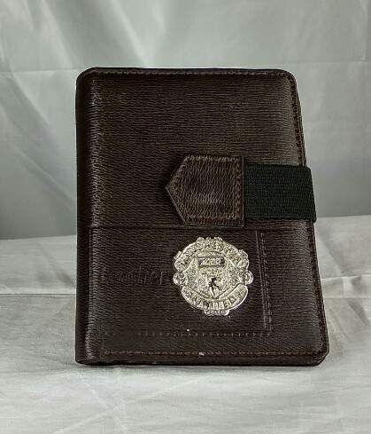Manchester United wallet and card holder brown