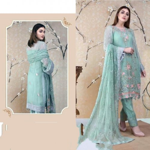 Heavy embroidery work Stylish and fashionable Salwar kameez