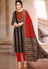 Unstitched Party Wear Designer Suti Salwar Suit
